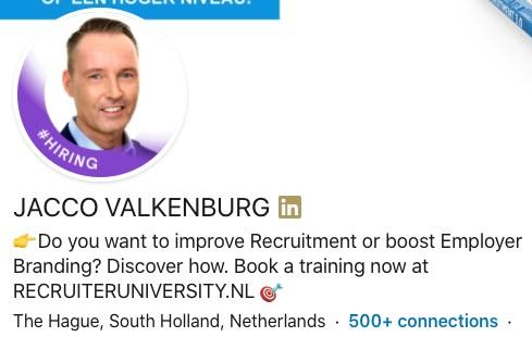Linkedin hiring label paars