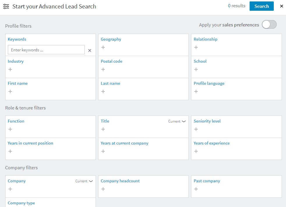 hoe zoeken in linkedin sales navigator tips