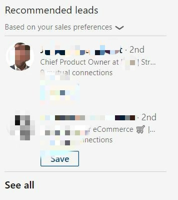 sales navigator recommended leads 2
