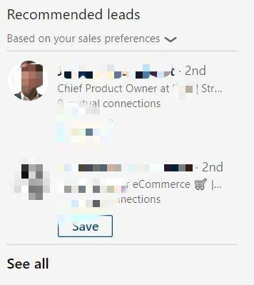 sales navigator recommended leads linkedin aanbevolen waar hoe