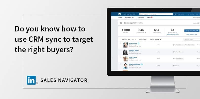 linkedin sales navigator crm