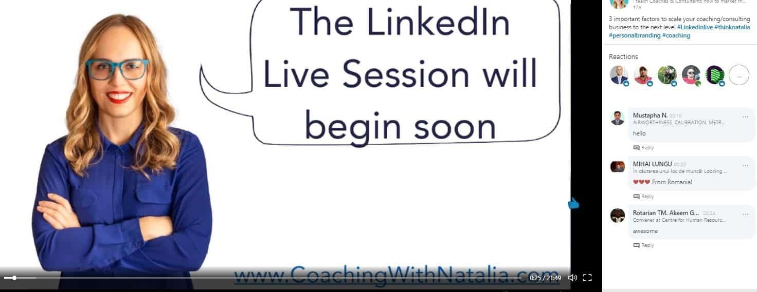 LinkedIn live video voorbeeld