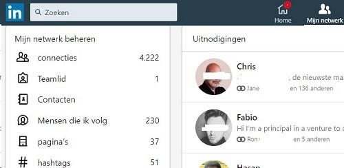 LinkedIn link lijst LinkedIn connecties