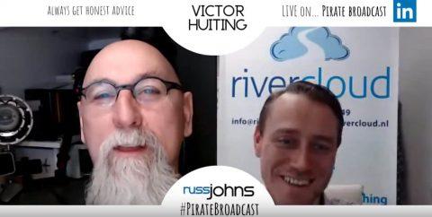 Russ Johns en Victor Huiting in gesprek over LinkedIn met LinkedIn Live