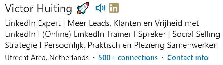 LinkedIn kopregel victor huiting